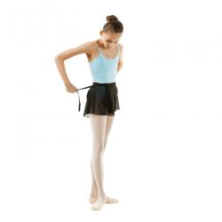 ballet wikkel rokje zwart kort