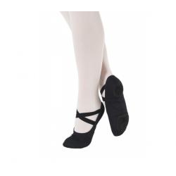 balletschoen zwart stof kids