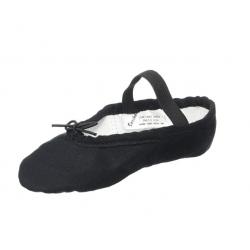 zwarte balletschoen canvas splitzool