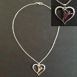 zilver ketting met ballerina in hart