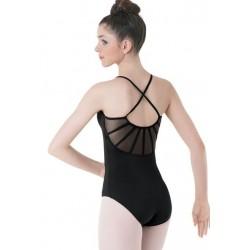 balletpak gekruiste bretel doorschijnend