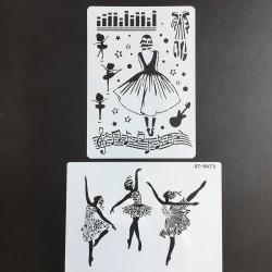 ballerina tekensjabloon mandala