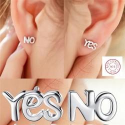 stoere oorring prikkers yes no letters