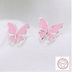 zilveren oorring vlinder