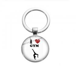 I love gymnastics sleutelhanger