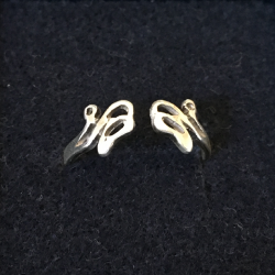 Silver ring with ballet shoes