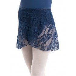 ballet wrap skirt blue lace