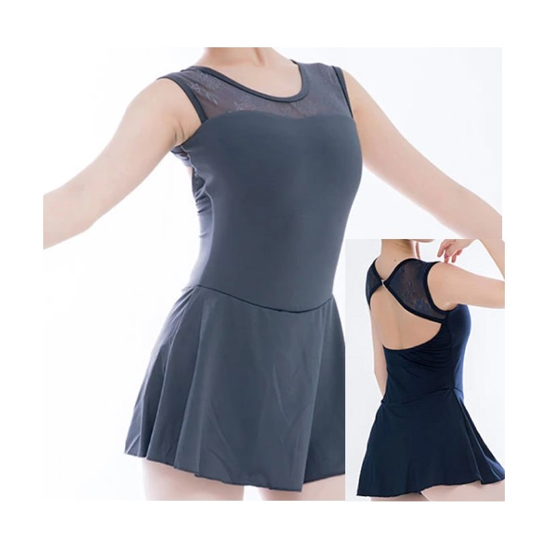 dansjurk kant grijs blauw
