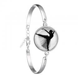 zilveren ballerina armband