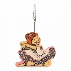 bartolucci houten ballerina foto clip houder