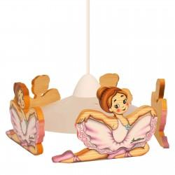wooden ballerina pendant...