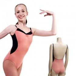 Sansha Marla balletpak spaghetti bretel zwart terracotta