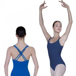 dark blue ballet leotard...