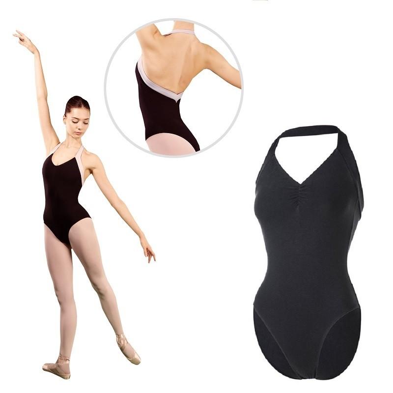 balletpak Sansha Alicante halter zwart wit