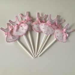 ballerina taartprikker cupcake topper tutu