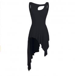 ballet jurk asymetrisch zwart