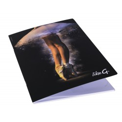 A4 schrift notitieboek Like G geruit ballerina