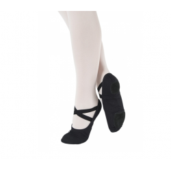 balletschoenen zwart canvas kinderen