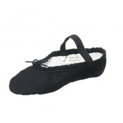zwarte balletschoen canvas splitzool