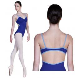 Balletpak spaghettibretel blauw/lavendel