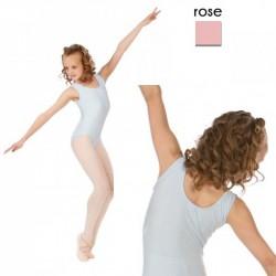 Rose balletpak kinderen zonder mouw