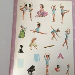 Tiny gaat op ballet stickers