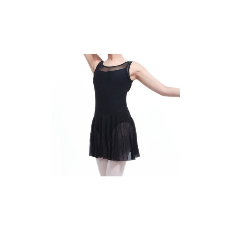 Ballet Zwart Gaas Met Jurk Zonder Mouw QrstdChx
