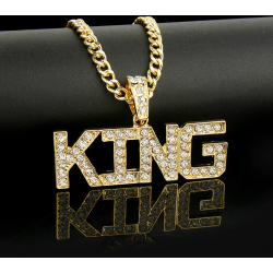 hiphop Ketting King goud...