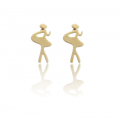 ballerina ballet oorring prikker goud