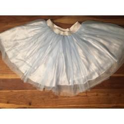 tutu rok lichtblauw zilver S